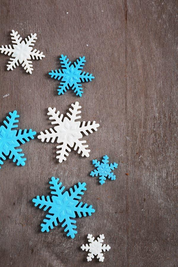 Γλυκές snowflake Χριστουγέννων διακοσμήσεις στοκ φωτογραφία με δικαίωμα ελεύθερης χρήσης