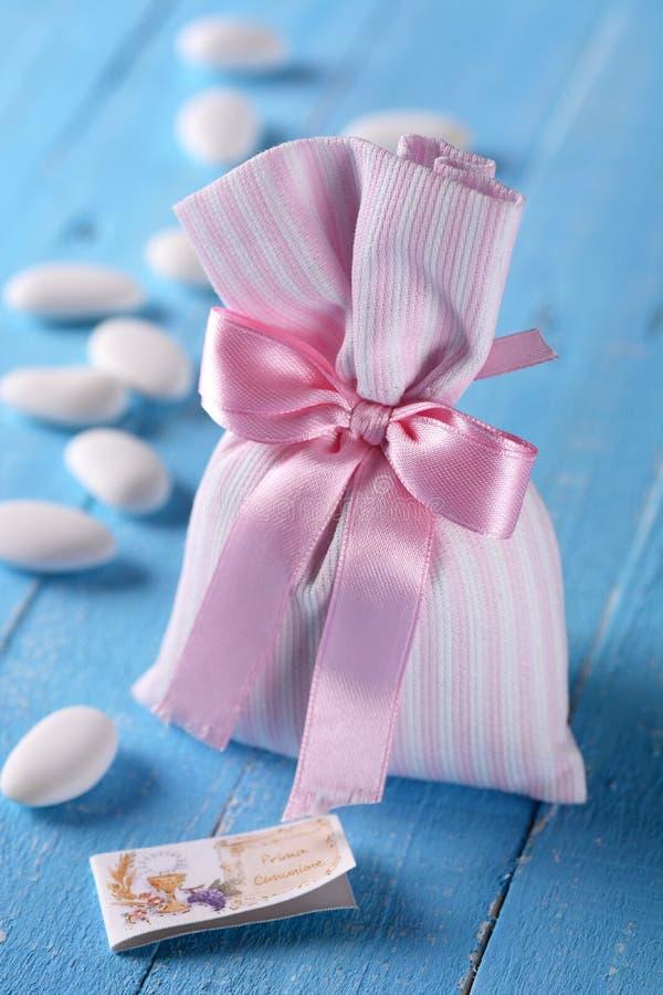 Γλυκαμένα αμύγδαλα για το βάπτισμα στοκ εικόνα με δικαίωμα ελεύθερης χρήσης