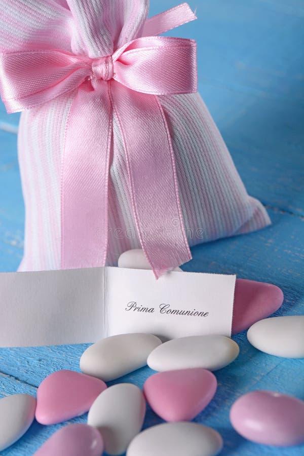 Γλυκαμένα αμύγδαλα για το βάπτισμα στοκ εικόνες με δικαίωμα ελεύθερης χρήσης