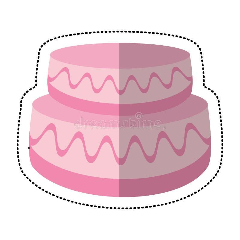 γλυκιά εικόνα γαμήλιων κέικ διανυσματική απεικόνιση