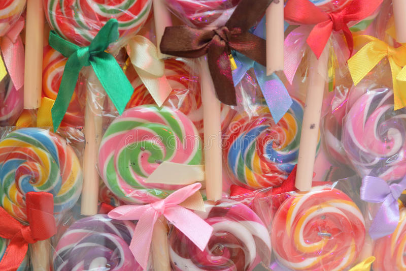 Γλυκιά καραμέλα Lollipops στοκ φωτογραφία με δικαίωμα ελεύθερης χρήσης