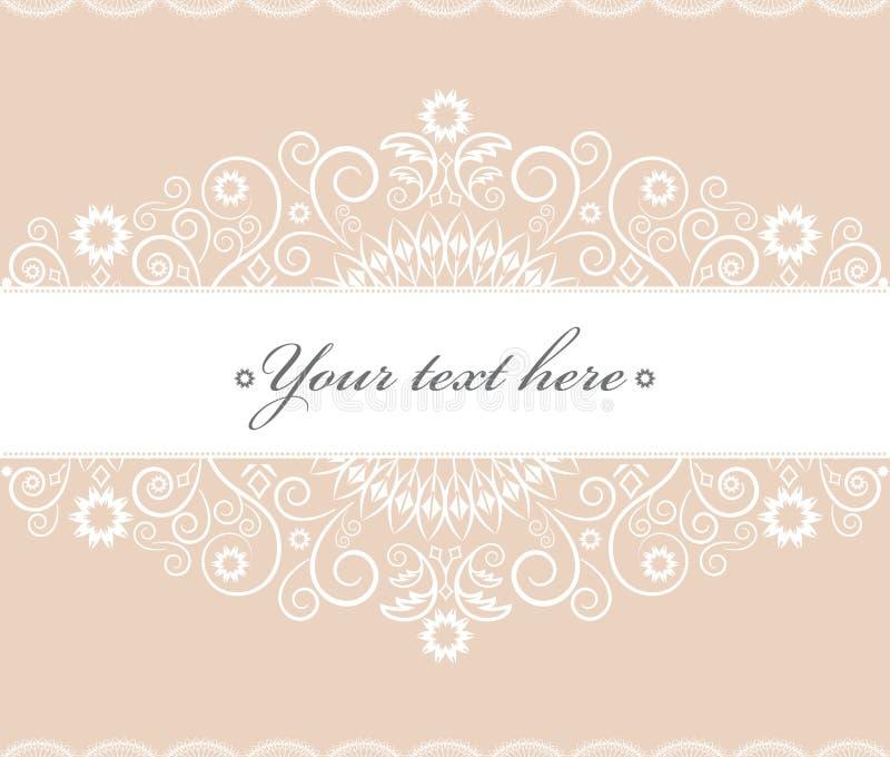 Γλυκιά floral κρητιδογραφία καρτών υποβάθρου και πρόσκλησης απεικόνιση αποθεμάτων