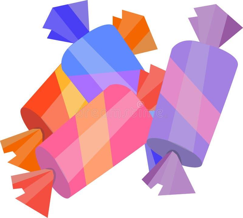 Γλυκός ριγωτός καραμελών στο διάνυσμα απεικόνιση αποθεμάτων