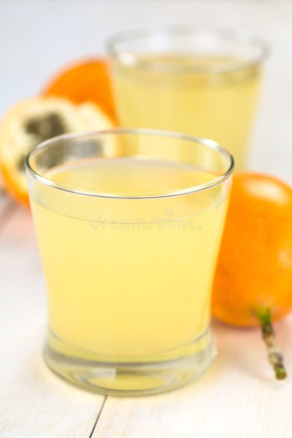 Γλυκός Granadilla ή χυμός φρούτων Grenadia στοκ εικόνες