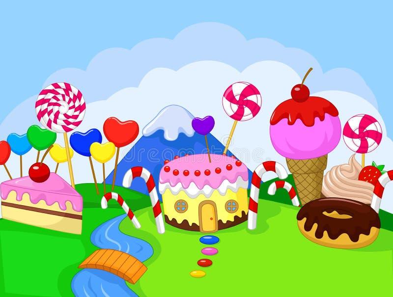 Γλυκό έδαφος τροφίμων φαντασίας διανυσματική απεικόνιση