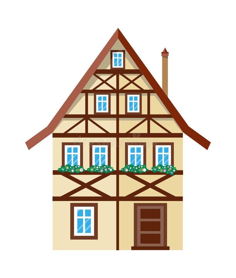 Γλυκό εξωτερικό πρότυπο αφισών εμβλημάτων εγχώριων σπιτιών απεικόνιση αποθεμάτων
