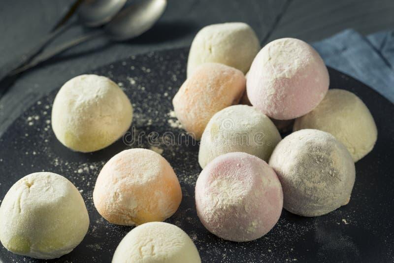 Γλυκό ιαπωνικό παγωτό Mochi στοκ φωτογραφία