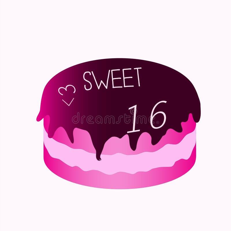 Γλυκό κέικ 16 στοκ φωτογραφία