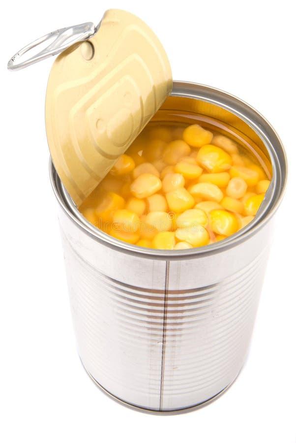Γλυκό καλαμπόκι στο δοχείο κασσίτερου Ι στοκ φωτογραφίες με δικαίωμα ελεύθερης χρήσης