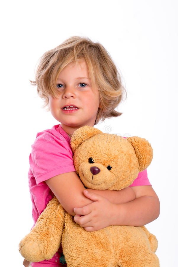 Γλυκό κορίτσι με teddy στοκ εικόνες με δικαίωμα ελεύθερης χρήσης