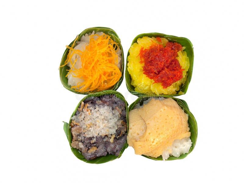 Γλυκό κολλώδες ρύζι με το κάλυμμα γαρίδων στοκ φωτογραφία με δικαίωμα ελεύθερης χρήσης