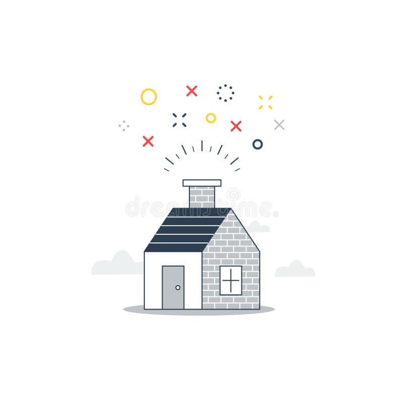Γλυκό σπίτι, κόμμα στο σπίτι διανυσματική απεικόνιση