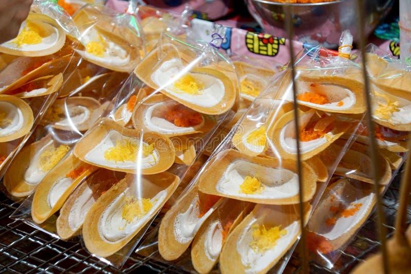 Γλυκό ταϊλανδικό τριζάτο ύφασμα κρεπ στοκ εικόνα