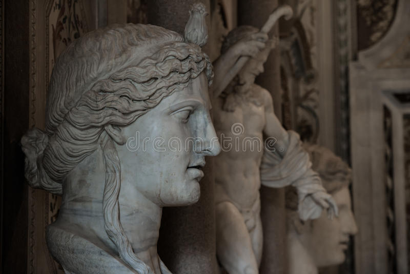 Γλυπτά σε Galleria Borghese στοκ φωτογραφία με δικαίωμα ελεύθερης χρήσης