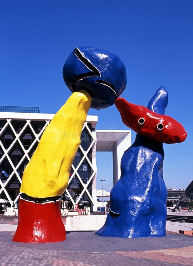 Γλυπτά Miro, Παρίσι στοκ εικόνες