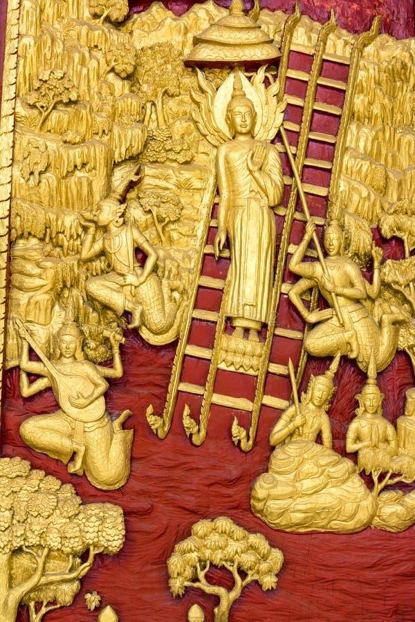 Γλυπτικές του Βούδα στοκ φωτογραφία