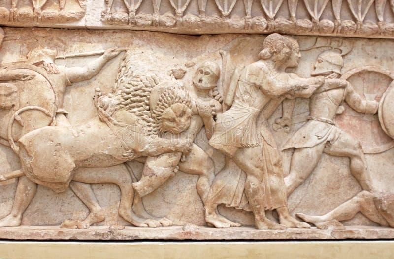 Γλυπτό αρχαίου Έλληνα, Ελλάδα στοκ φωτογραφία