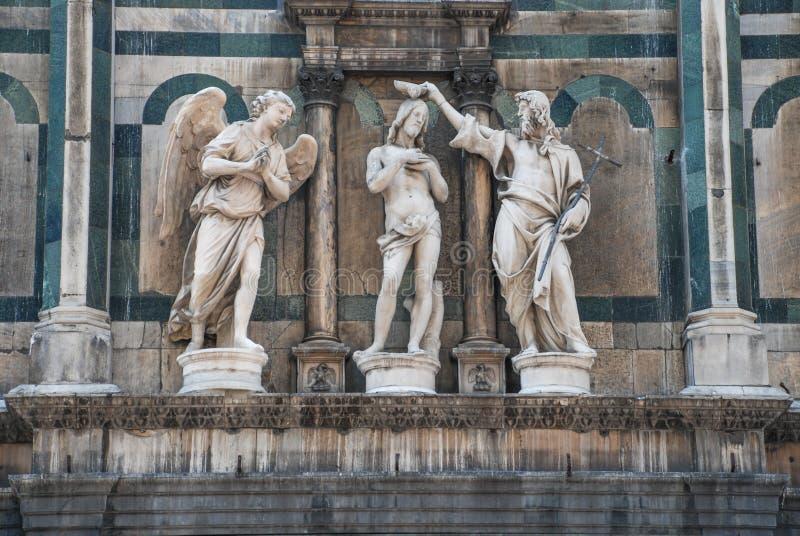 Γλυπτό βαπτίσματος Christs στοκ εικόνες