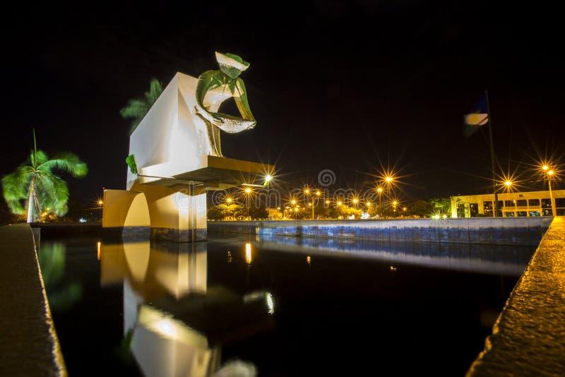 Γλυπτό μνημείων στην πόλη Boa Vista, Βραζιλία στοκ εικόνα με δικαίωμα ελεύθερης χρήσης