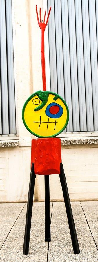 Γλυπτό μουσείων Miro στοκ εικόνες με δικαίωμα ελεύθερης χρήσης