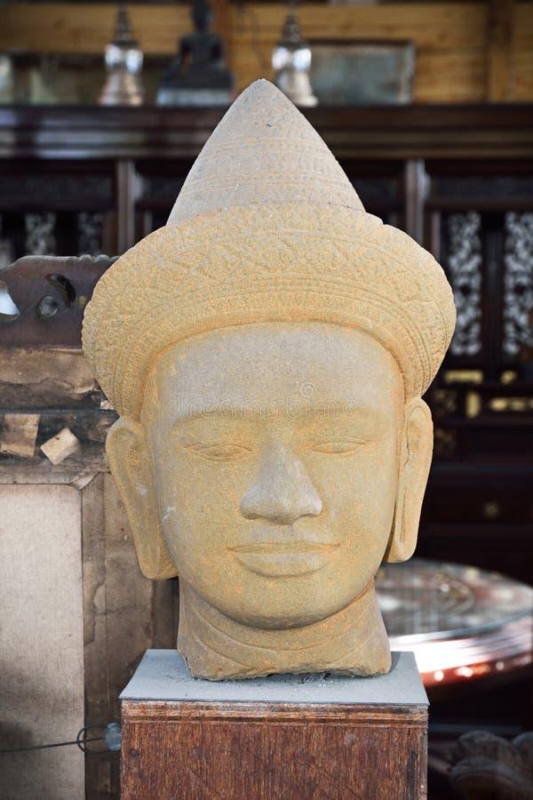 Γλυπτό προσώπου του Βούδα στοκ φωτογραφία με δικαίωμα ελεύθερης χρήσης