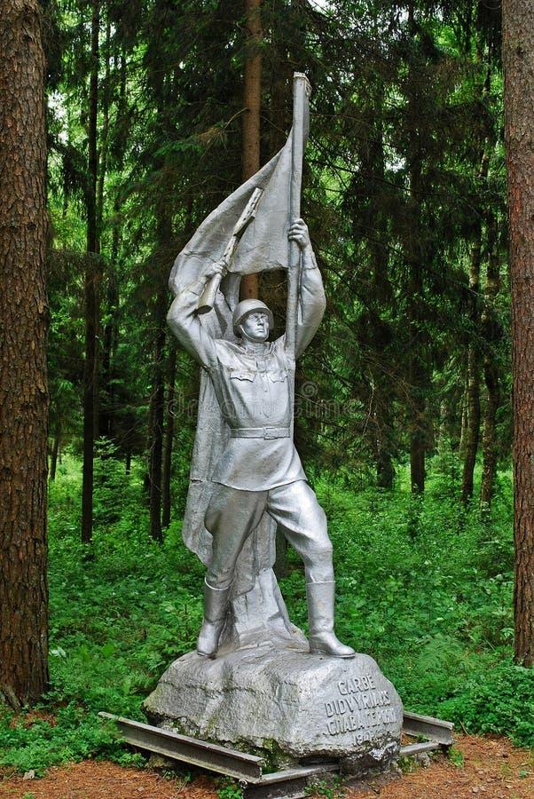 Γλυπτό στο πάρκο Grutas κοντά στην πόλη Druskininkai στοκ φωτογραφίες