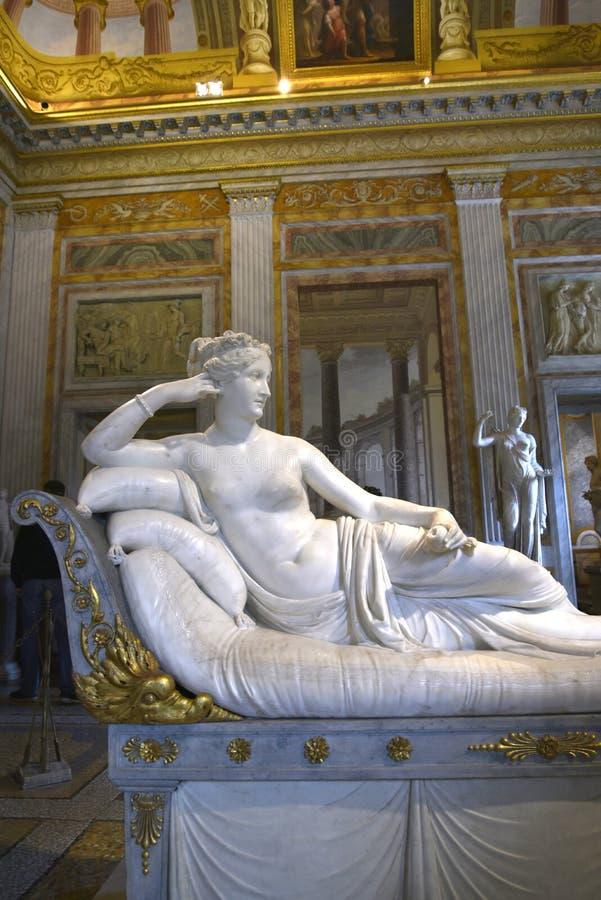Γλυπτό της αδελφής Napoleon ` s στο Galleria Borghese Ρώμη Ιταλία στοκ φωτογραφία με δικαίωμα ελεύθερης χρήσης