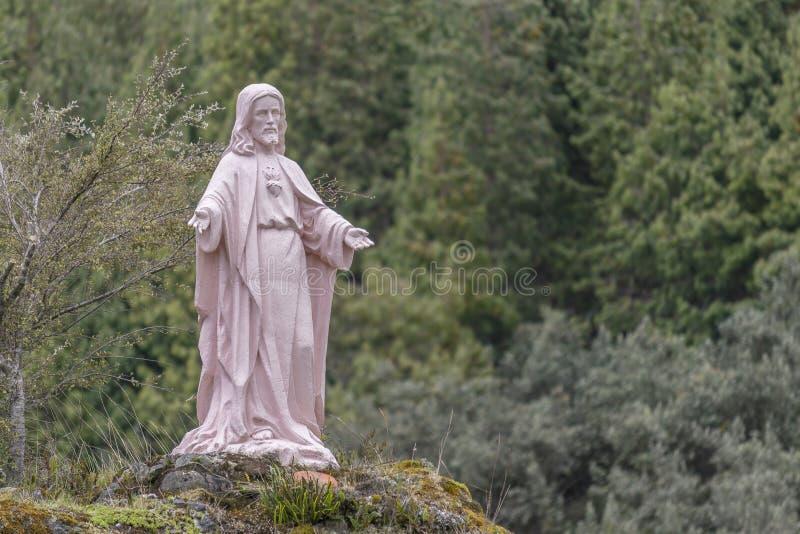 Γλυπτό του Ιησούς Χριστού υπαίθρια Cuenca Ισημερινός στοκ εικόνα