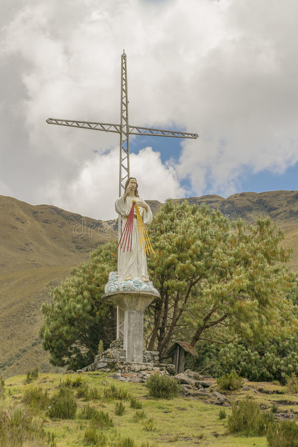 Γλυπτό του Ιησούς Χριστού υπαίθρια Cuenca Ισημερινός στοκ φωτογραφίες με δικαίωμα ελεύθερης χρήσης