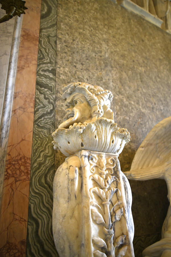 Γλυπτό του διπρόσωπου ρωμαϊκού Θεού Ιανός στο Galleria Borghese Ρώμη Ital στοκ φωτογραφίες