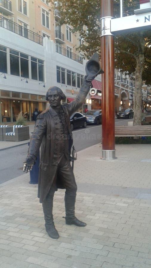 Γλυπτό του George Washington στοκ φωτογραφία