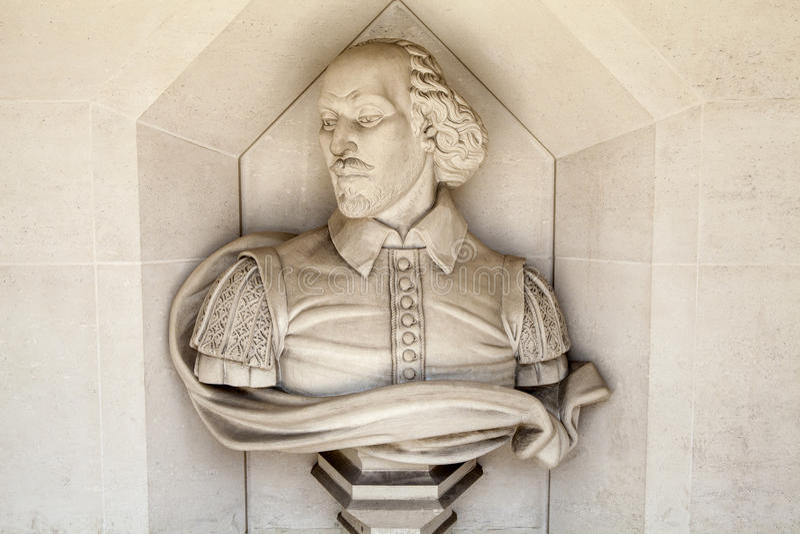 Γλυπτό του William Shakespeare στο Λονδίνο στοκ εικόνα