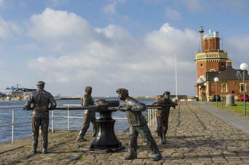 Γλυπτό Helsingborg εργατών στοκ φωτογραφία με δικαίωμα ελεύθερης χρήσης