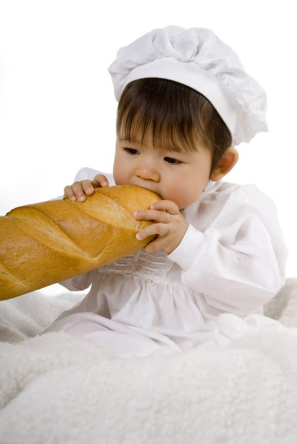 δάγκωμα baguette στοκ εικόνα με δικαίωμα ελεύθερης χρήσης
