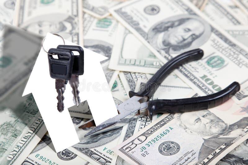 Δάνεια για τις εγχώριες επισκευές και το σπίτι στοκ φωτογραφίες με δικαίωμα ελεύθερης χρήσης