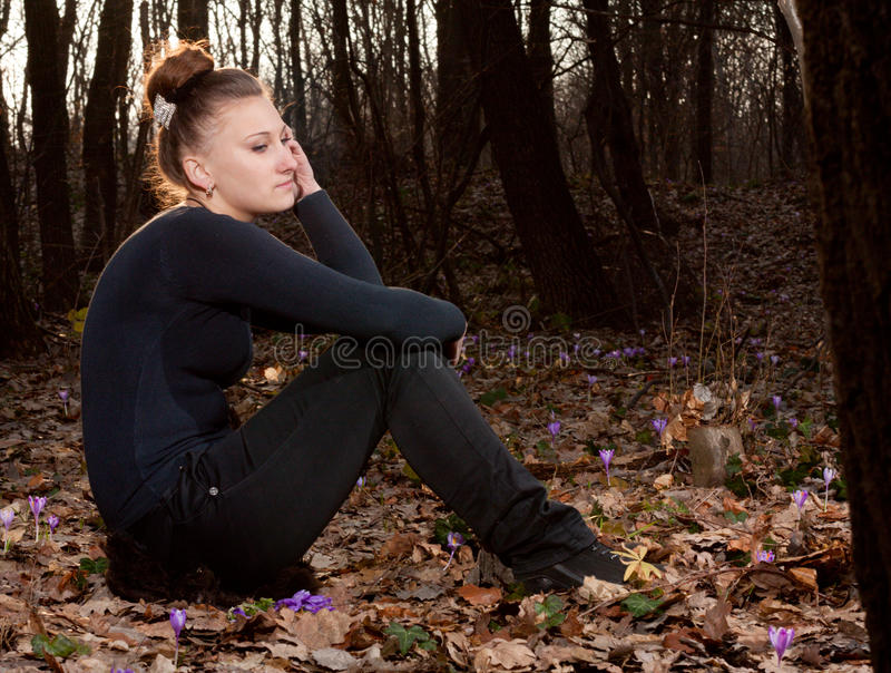 δάση κοριτσιών στοκ εικόνες