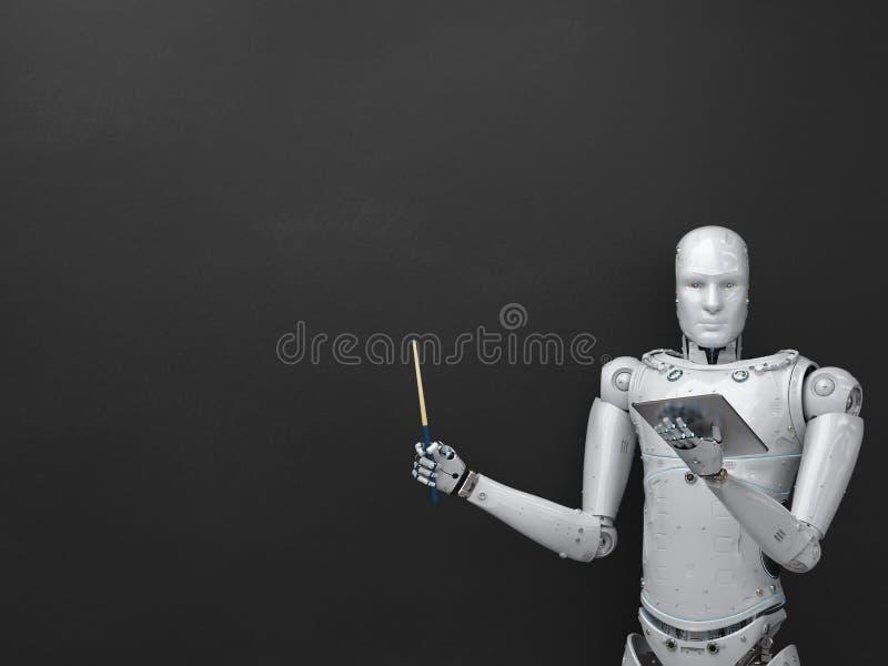 Δάσκαλος ή ομιλητής Cyborg διανυσματική απεικόνιση