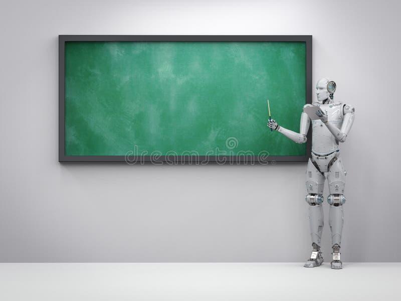 Δάσκαλος ή ομιλητής Cyborg ελεύθερη απεικόνιση δικαιώματος