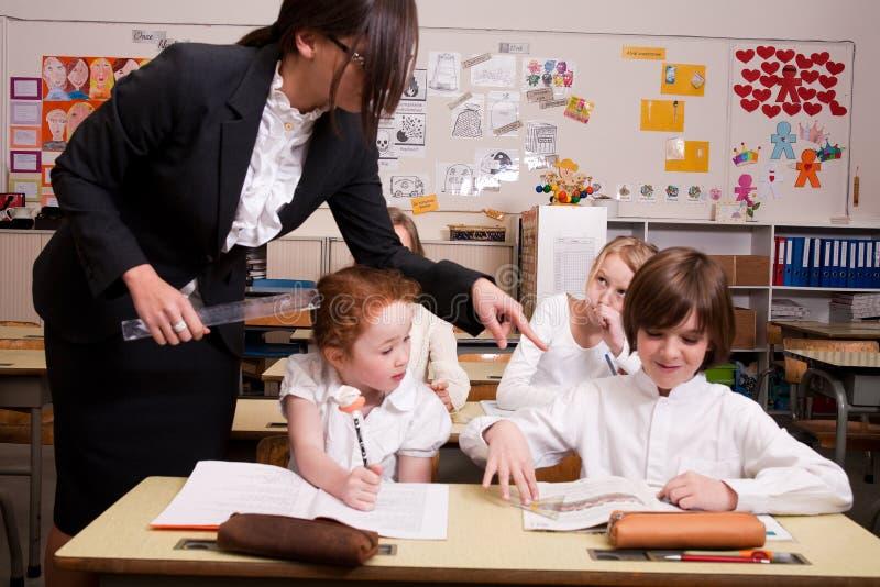 δάσκαλος κοριτσιών στοκ φωτογραφία