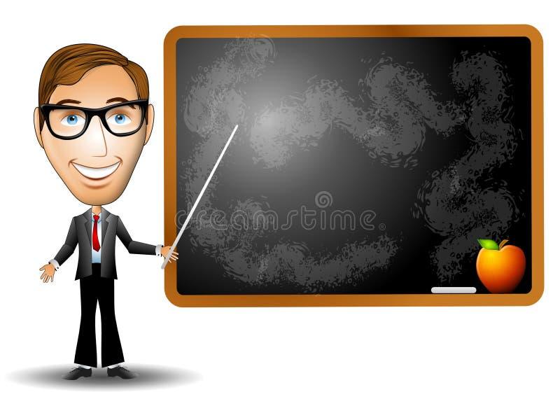 δάσκαλος πινάκων κιμωλία& ελεύθερη απεικόνιση δικαιώματος
