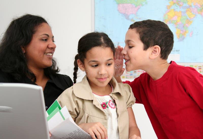 δάσκαλος σπουδαστών στοκ εικόνα με δικαίωμα ελεύθερης χρήσης