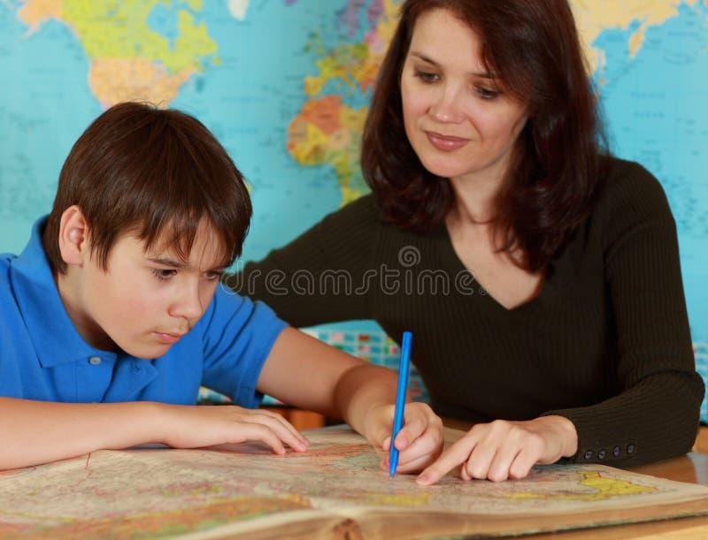δάσκαλος σπουδαστών στοκ εικόνα