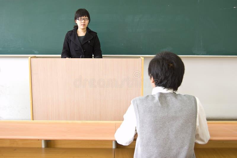 δάσκαλος σπουδαστών στοκ φωτογραφίες με δικαίωμα ελεύθερης χρήσης