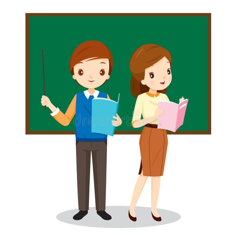 Δάσκαλοι που στέκονται στην τάξη απεικόνιση αποθεμάτων