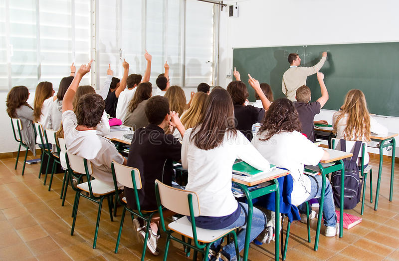 Δάσκαλος και σπουδαστές στοκ εικόνα με δικαίωμα ελεύθερης χρήσης