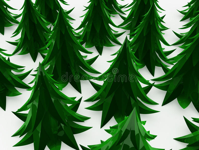 δάσος έλατου κινούμενων & απεικόνιση αποθεμάτων