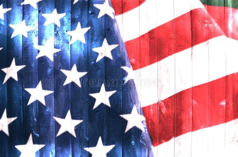 δάσος αμερικανικών σημαιών στοκ φωτογραφία
