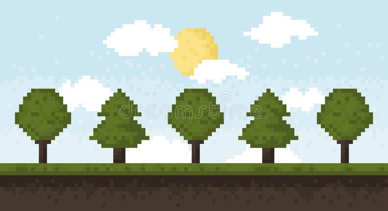 Δάσος εικονοκυττάρου διανυσματική απεικόνιση
