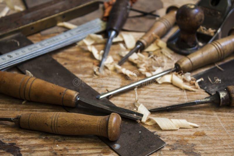 δάσος επιτραπέζιων εργαλείων ξυλουργών στοκ εικόνες