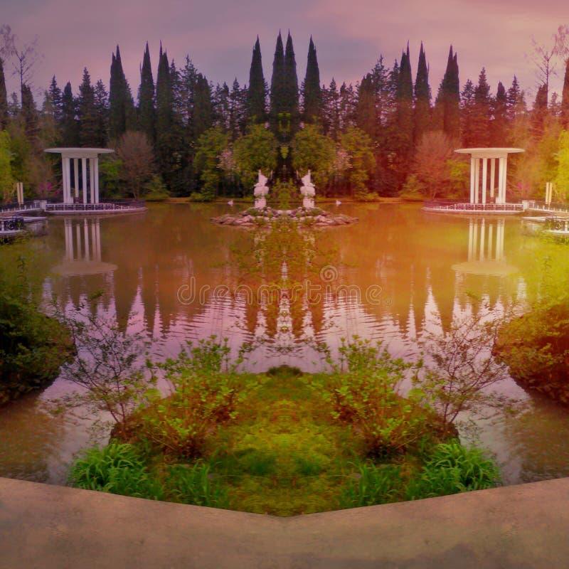 Δάσος και λίμνες στοκ εικόνες